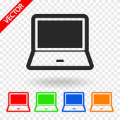 Laptop icon vector illustration Flat design style
