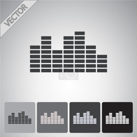 Soundwave music icon set