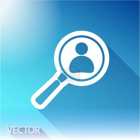 Illustration for Looking For An Employee Search icon, vector illustration. Flat design style - Royalty Free Image