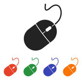 Computer mouse icon set vector illustration Flat design style