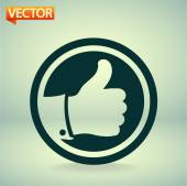 Thumbs up icon  vector illustration Flat design style