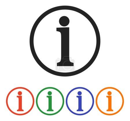Information sign icon, vector illustration. Flat d...