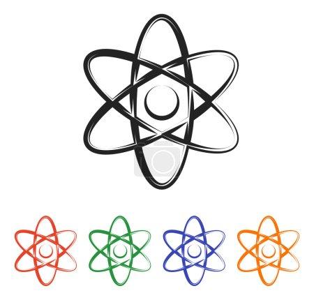 Illustration pour Icône atome. conception vectorielle plate - image libre de droit