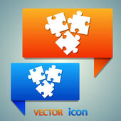 Puzzle piece icon  vector illustration Flat design style