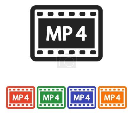 MP4 Video icon, flat design vector illustration...