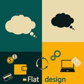Comic speech bubble icon vector illustration Flat design style