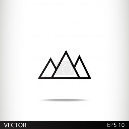 Mountains icon design
