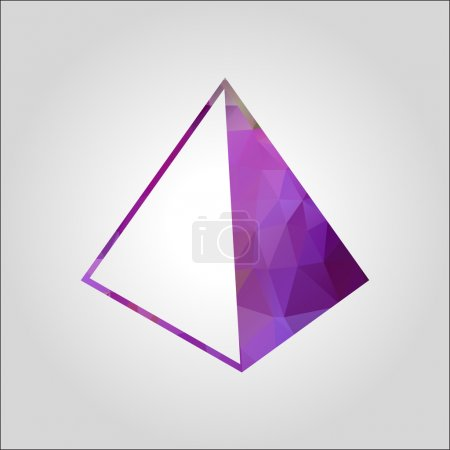 Illustration for Pyramid icon, vector illustration. Flat design style - Royalty Free Image