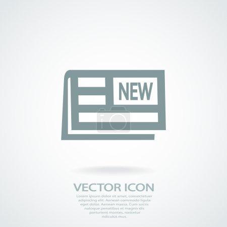 Newspaper icon design