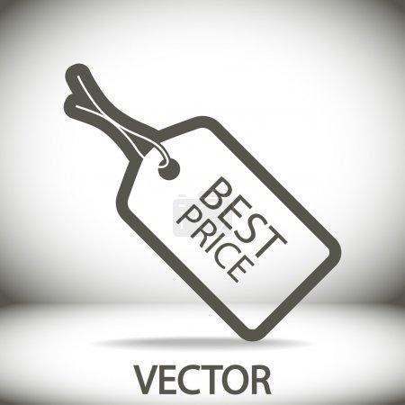 Illustration pour Meilleur prix icône, illustration vectorielle. style design plat - image libre de droit