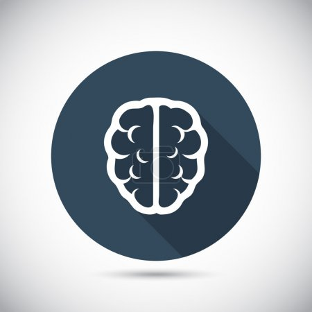 Illustration for Brain icon, vector illustration. Flat design style - Royalty Free Image