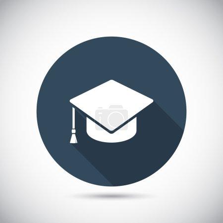 icono de gorra de graduación