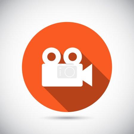 Illustration pour Icône caméra vidéo, design plat - image libre de droit