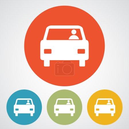 Illustration pour Icône de voiture, illustration vectorielle. Style design plat - image libre de droit