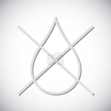 Water drop forbidden icon