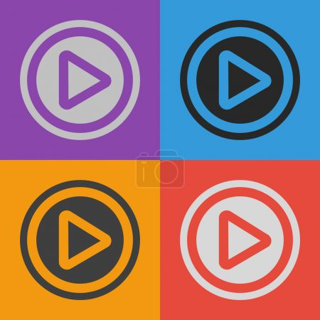 Play button web icon set