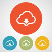 Cloud computing download icon