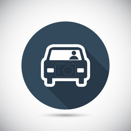 Illustration for Car icon, vector illustration. Flat design style - Royalty Free Image