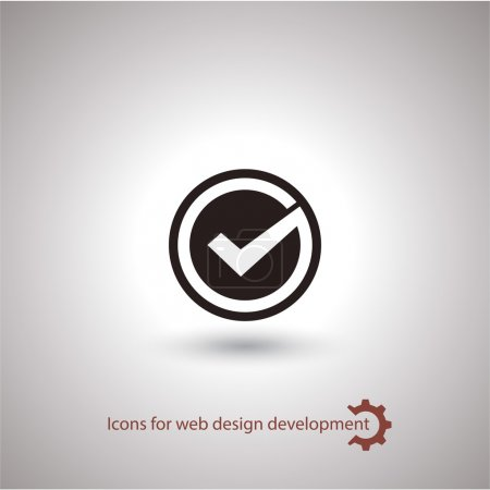 Illustration for Icon. Check mark Flat design style - Royalty Free Image