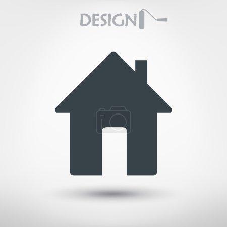 Illustration pour Icône de maison design plat. - image libre de droit