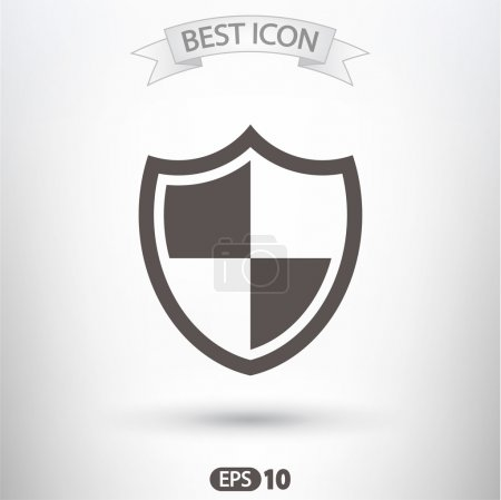 Shield icon. Flat design style