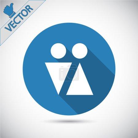 Male and female symbols icon
