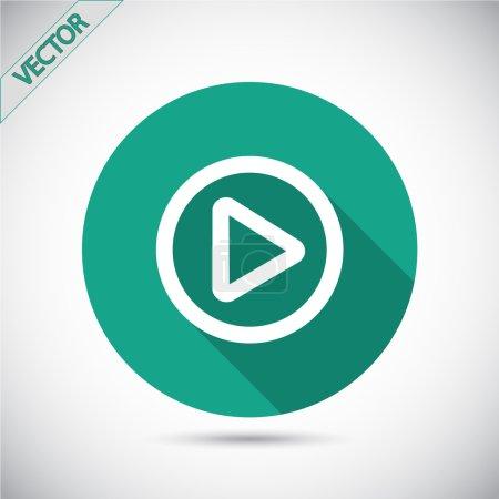 Illustration pour Jouer l'icône du bouton web, illustration vectorielle. style design plat - image libre de droit