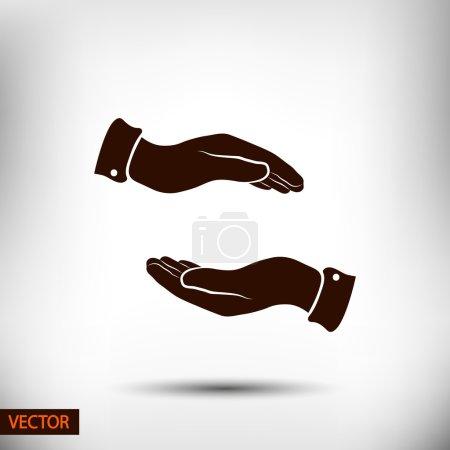 Illustration pour Icône mains, illustration. Style design plat - image libre de droit