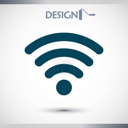 Wireless Network Symbol of wifi icon