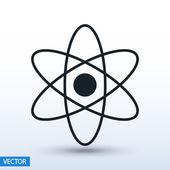 Atom icon flat design