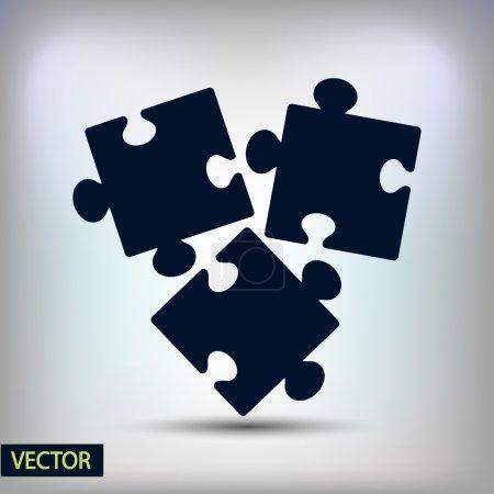 Illustration pour Puzzle pièce icône, illustration vectorielle. Style design plat - image libre de droit