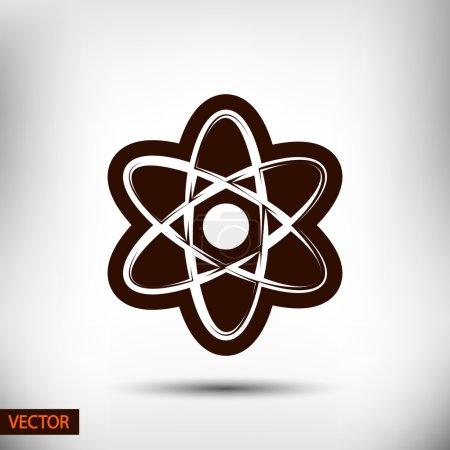 Atom icon. flat design