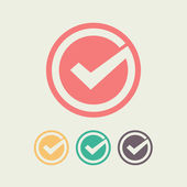 Tick icon vector illustration Flat design style