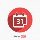 Calendar icon vector illustration Flat design style