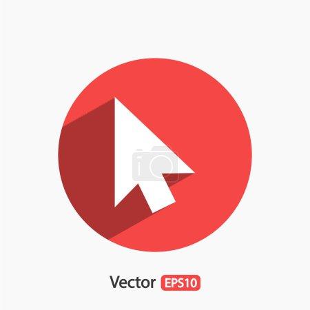 cursors icon, Flat design style
