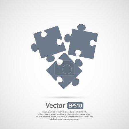 Illustration pour Puzzles pièces icône, illustration vectorielle. Style design plat - image libre de droit
