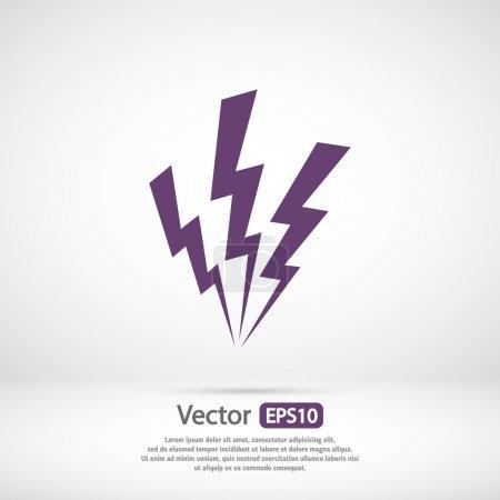 Illustration pour Icône de la foudre, illustration vectorielle. Style design plat - image libre de droit