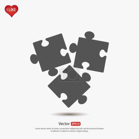 Puzzles pieces icon