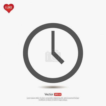 Illustration for Clock icon, vector illustration. Flat design style - Royalty Free Image