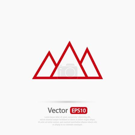 Mountains icon design