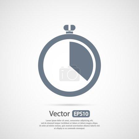 Illustration pour Icône de chronomètre, illustration vectorielle. style design plat - image libre de droit