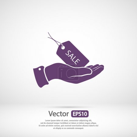 Illustration for Sale Tag icon, vector illustration. Flat design style - Royalty Free Image