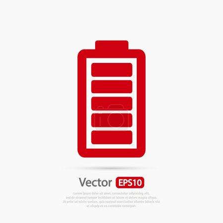 Illustration pour Icône de charge de batterie, illustration vectorielle. Style design plat - image libre de droit