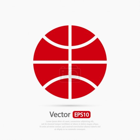 Illustration for Basketball ball icon illustration. Flat design style - Royalty Free Image