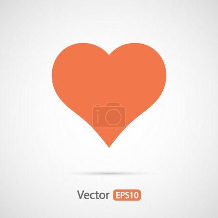 Illustration for Hearts icon, vector flat design - Royalty Free Image