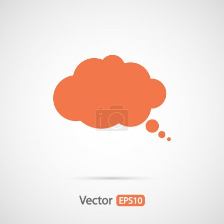 Illustration for Comic speech bubbles icon, vector illustration. Flat design styl - Royalty Free Image
