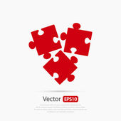 Puzzles pieces icon  vector illustration Flat design style