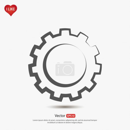 Illustration for Gear icon vector illustration. - Royalty Free Image