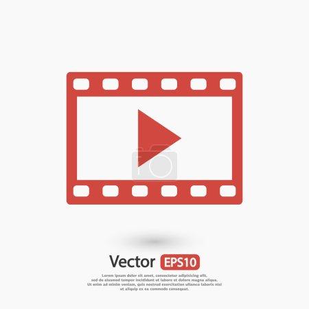 Illustration pour Icône vidéo, illustration vectorielle design plat - image libre de droit