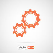 Gears icon Flat design style